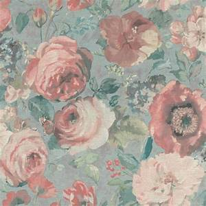 Tapete Blumen Modern : tapete barbara sch neberger blumen aquarell hellblau bunt 527858 ~ Eleganceandgraceweddings.com Haus und Dekorationen