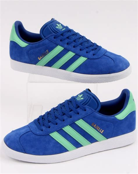 Adidas Gazelle Trainers Royal Blue/Green - 80s Casual Classics