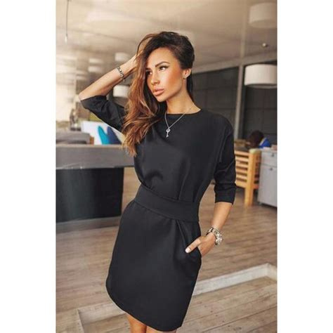 Boat Neck Fall Dress by Dress Womens Fashion Autumn Casual Boat Neck Evening