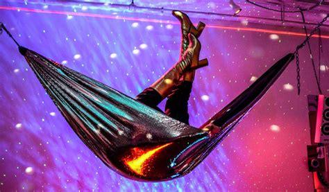 Disco Hammock by Disconium Disco Hammock Is A Groovy Shiny Sanctuary