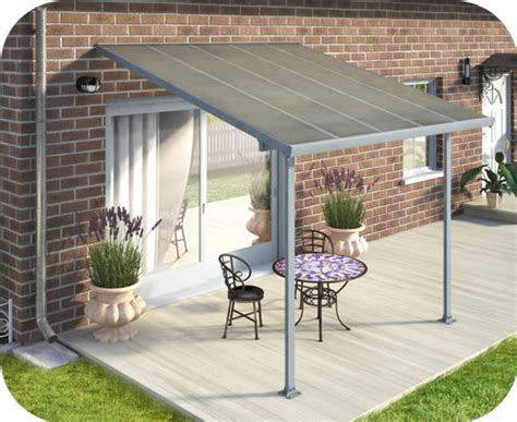 palram 10x10 feria patio cover kit gray hg9410