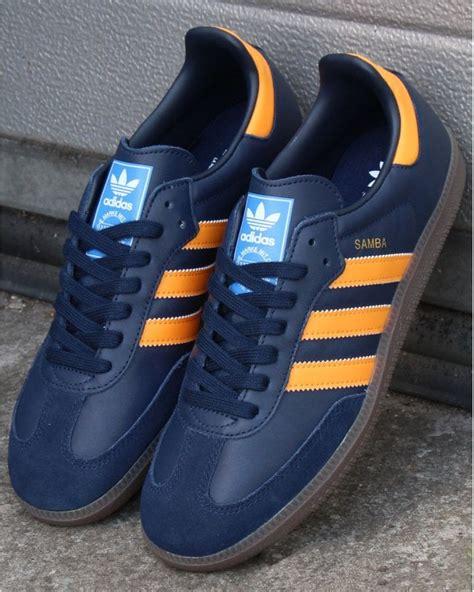 Adidas Samba Og Trainers Navy/Orange - Shop More Adidas At ...