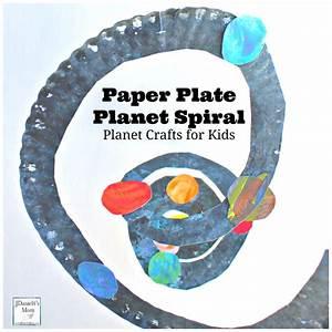 Planet Crafts- Paper Plate Solar System Spiral