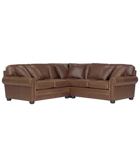 3 piece deep seated leather sectional pillow back sofa