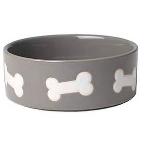 bed and bath registry wedding petrageous 3 cup dog harbor bones pet bowl in grey