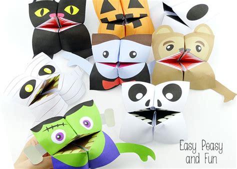 halloween cootie catchers origami  kids easy peasy