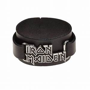 Official Alchemy IRON MAIDEN Leather Buckle Wristband ...