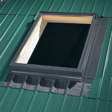 velux deck mount metal roof aluminum flashing kit  skylights edm  shops edm  skylights