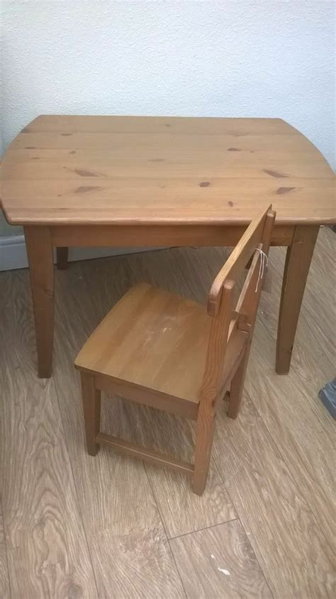 Kitchen Table And Chairs Gumtree Tyne And Wear by Ikea Leksvik Table And Chair Solid Wood Antique