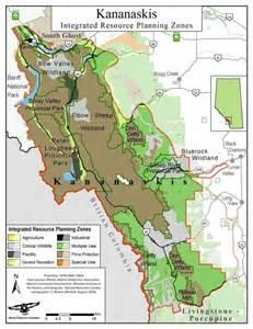 Kananaskis Country Alberta Map
