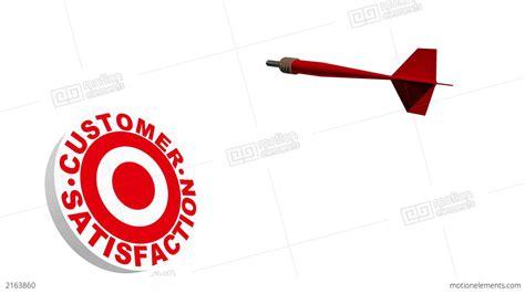 3d Dart Hitting Customer Satisfaction Bullseye Stock ...