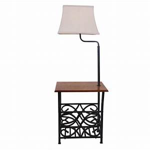 Normande lighting 54 in oil rubbed bronze with magazine for Normande rustic floor lamp