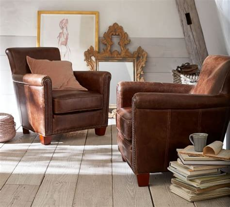 pottery barn leather sofas armchairs sale save