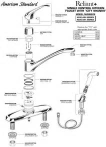 kitchen faucet diagram plumbingwarehouse american standard bathroom faucet