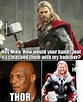 Mike Tyson Thor Hammer - Humoar.com