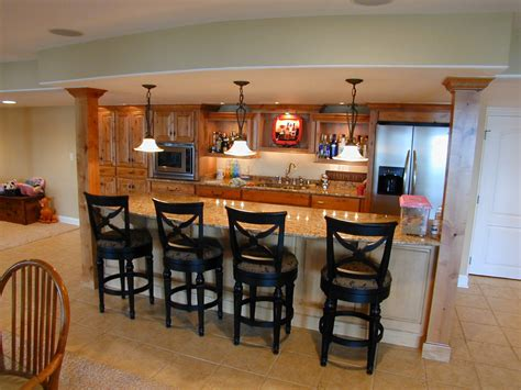 bar ideas for kitchen personable home basement bar designs idea feat wooden cabinets storage and catchy tiles