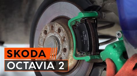 replace rear brake pads  skoda octavia