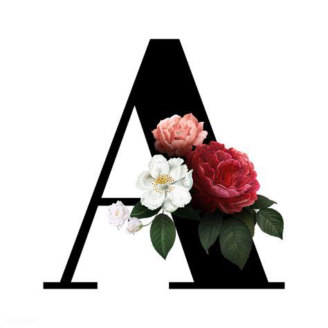 floral letter  font  transparent png
