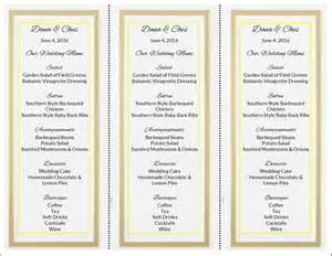 wedding reception program template do it yourself wedding menu cards