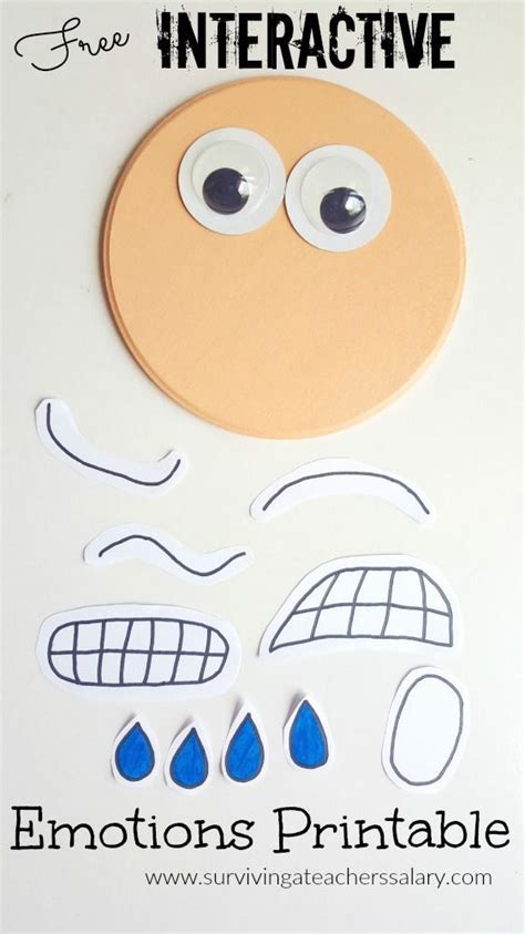interactive printable emotions autism social skills tool back to school emotions