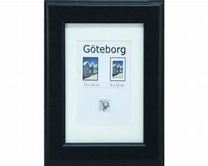 Bilderrahmen Schwarz 50x70 : bilderrahmen holz g teborg schwarz 13x18 cm bei hornbach kaufen ~ Frokenaadalensverden.com Haus und Dekorationen