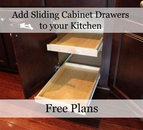Sliding Drawers For Cabinets by Free Plans For Sliding Kitchen Drawers Add Them To Your