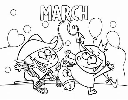 March Coloring Months Coloringcrew