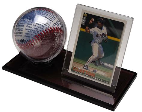 Trading card cases, storage boxes, binders, frames, sleeves and more! Acrylic Baseball & Card Holder - Polynex, Inc