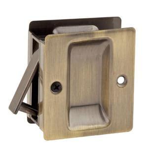 kwikset notch antique brass hallcloset pocket door lock