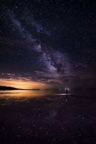 Under Night Sky Milky Way Galaxy