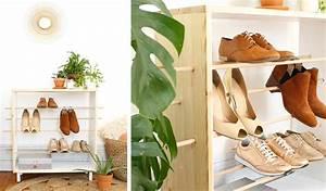 awesome meuble chaussure sur mesure pictures joshkrajcik With fabriquer un meuble d entree 8 meuble porte manteau et range chaussures bois royan