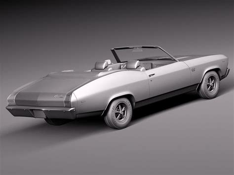 Chevelle Ss Models by Chevrolet Chevelle Ss Convertible 1969 3d Model Max Obj