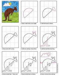 How To Draw A Kangaroo  U2013 Pencil Sketch
