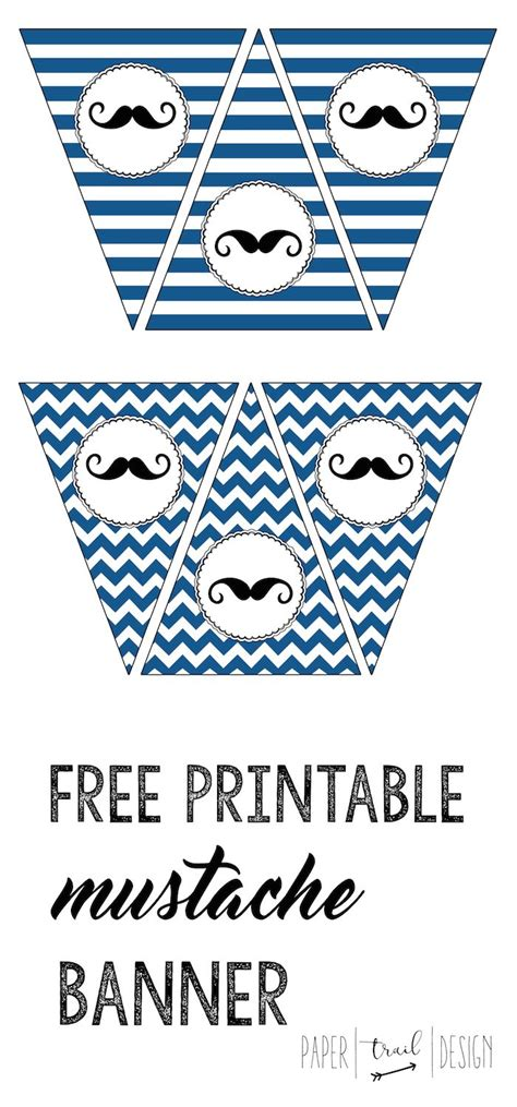 mustache banner printable mustache party baby shower
