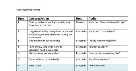 Script Template Shooting Script Template Docx Docdroid