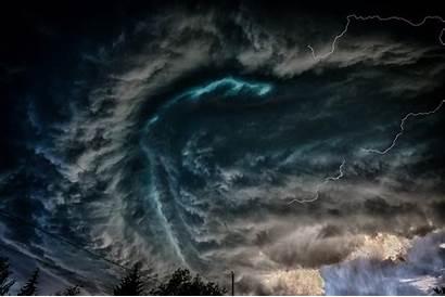 Tornado Storm Lightning Fundo Sky Dark Clouds