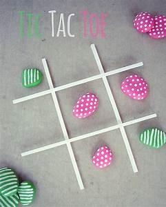 Tic Tac Toe Spiel : steine als tic tac toe spiel nutzen kinder spiele basteln und bastelideen ~ Orissabook.com Haus und Dekorationen