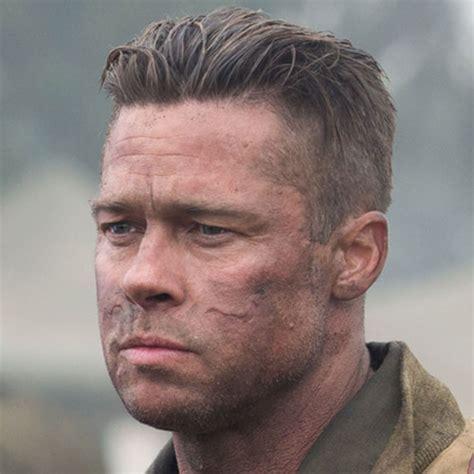 Brad Pitt Fury Hairstyle   Men's Hairstyles   Haircuts 2018