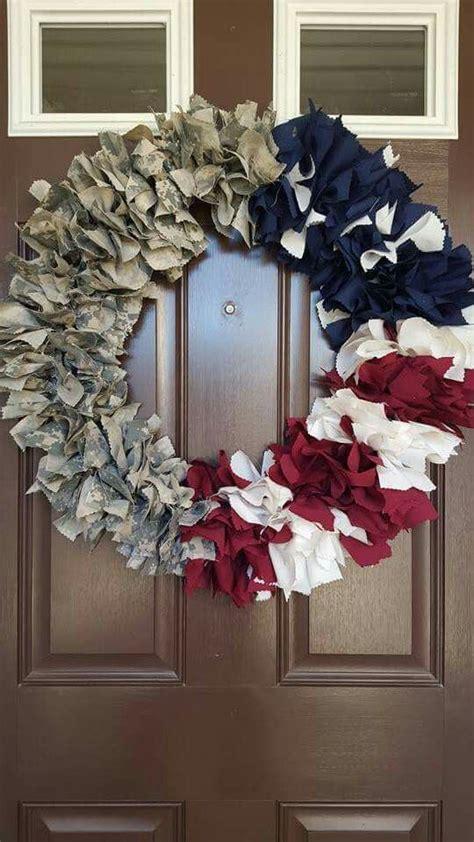 army uniform red white  blue wreath craft ideas