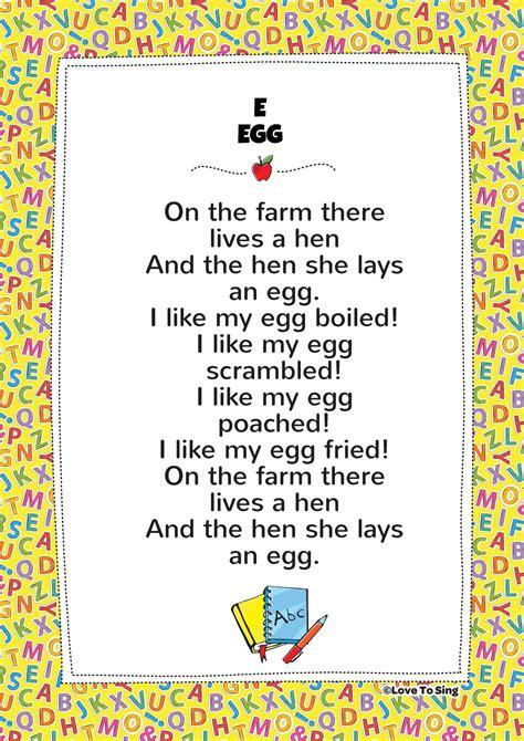 egg phonics song  video song lyrics activities