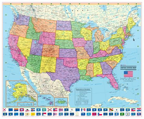 cool owl maps united states wall map poster