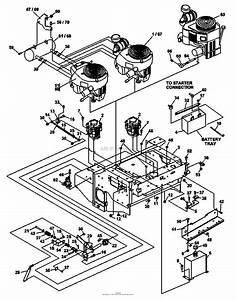 Bunton  Bobcat  Ryan 942237e Zt 225 25hp Klr W  61 Side Discharge Parts Diagram For Upper Engine
