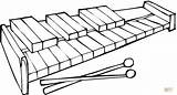Xylophone Coloring sketch template