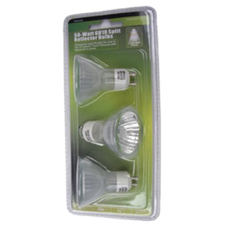 portfolio 3 pack 50 watt gu10 split reflector bulbs new ebay