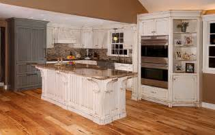 distressed white kitchen island distressed kitchen with island custom cabinetry by ken leech