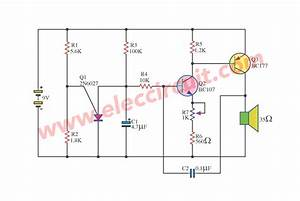Simple Warble Tone Generator Circuit