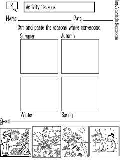 Carolina mi página de inglés (Actividades): 8 Seasons