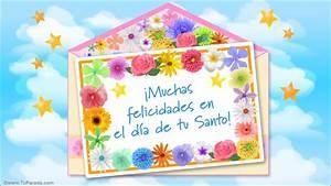 Felicidades en tu Santo, Feliz Santo, tarjetas