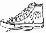 Converse Dibujo Shoe Balenciaga Fila Zapatillas Simple Guardado Desde Uploaded Colorear Clip Sneakers Dibujos sketch template