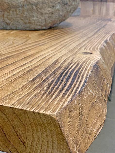 mensola legno per lavabo da appoggio mensola piano per lavabo da appoggio in legno rustico